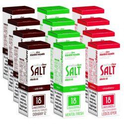 12X 10ml SALT e-liquid - VEGYES ÍZEK 18mg
